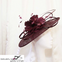 Dark purple mother of the bride hatinator 13103